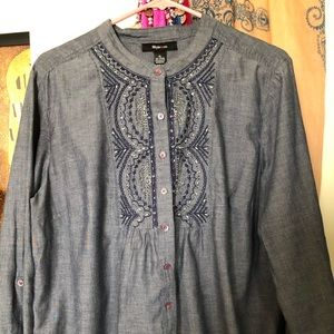Embellished Button Down Tunic